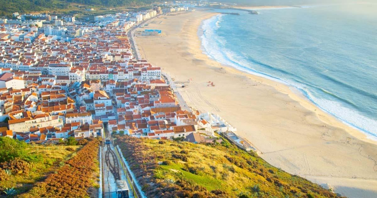Septiembre en Portugal - Panorámica de Nazare, desde el funicular en Portugal